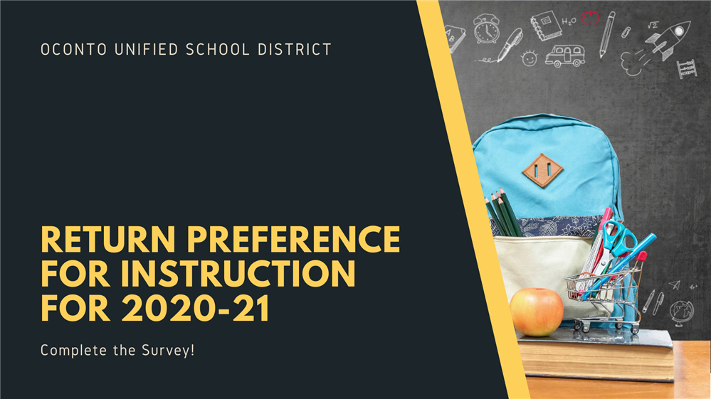 Return Preference for Instruction for 2020-21