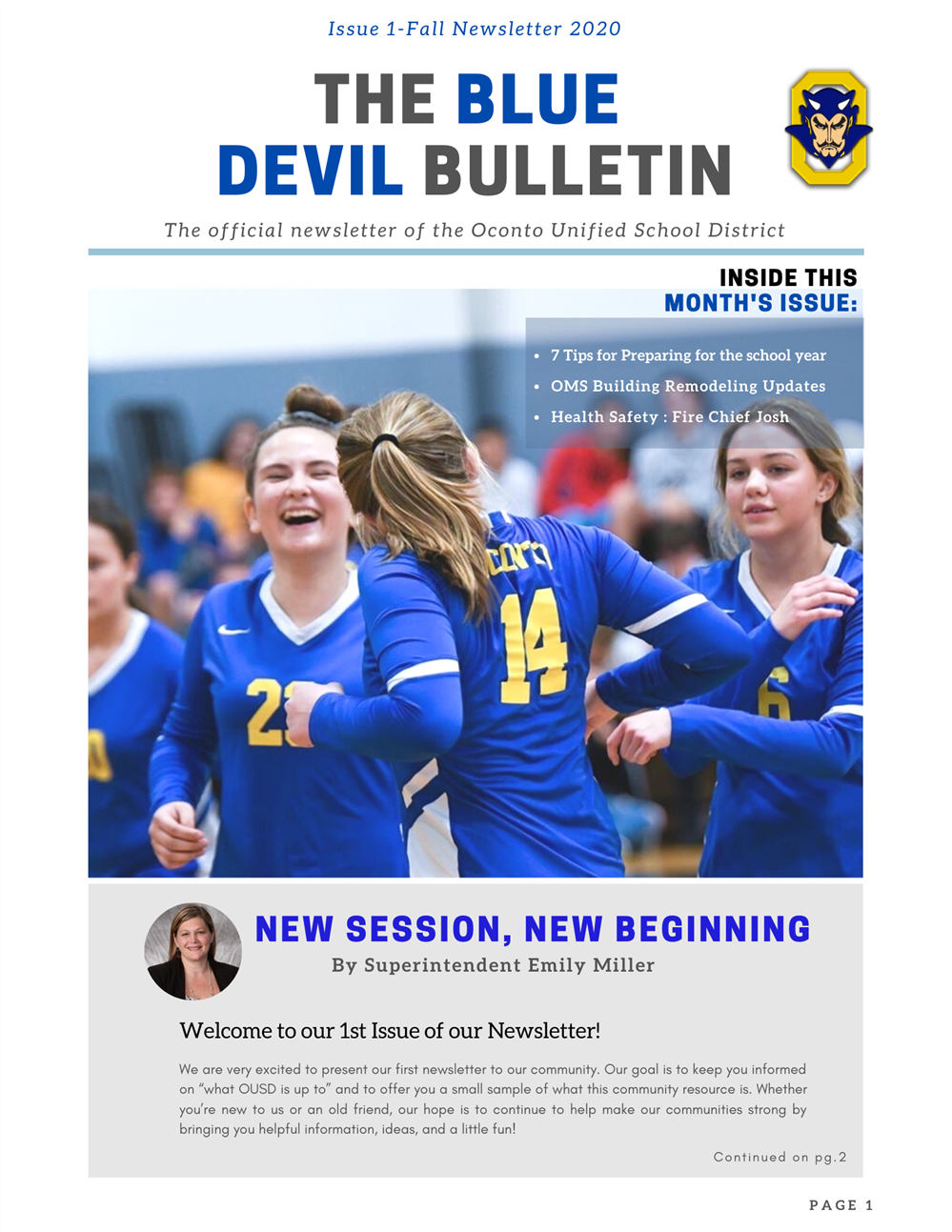 Issue 1-Fall Newsletter 2020
