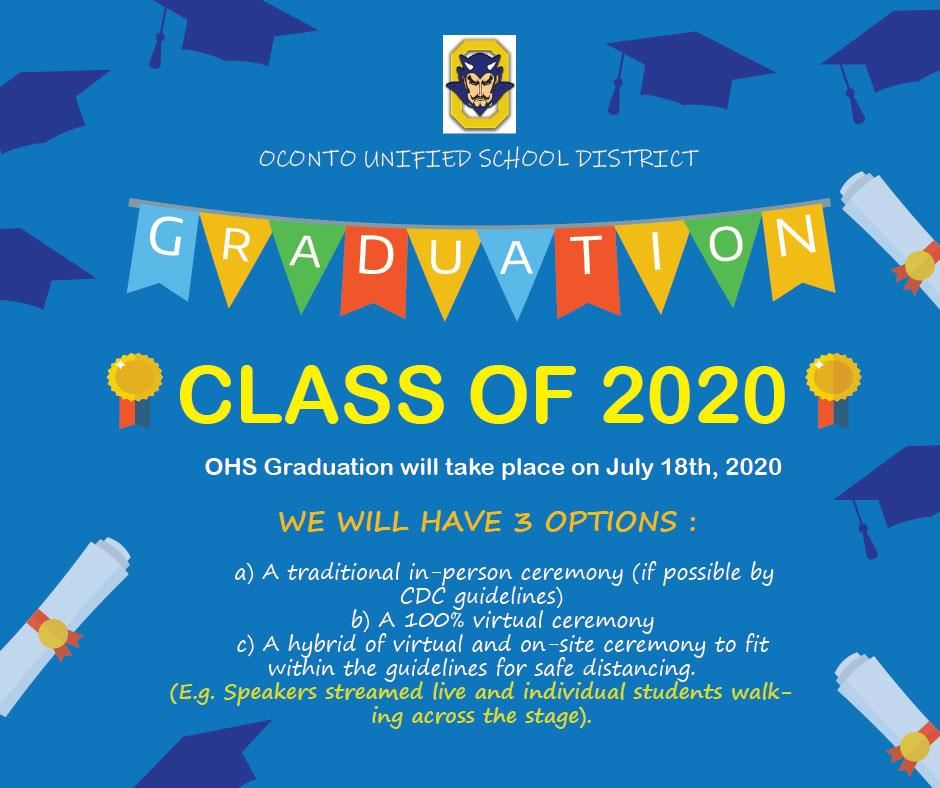 CLASS OF 2020: GRADUATION CEREMONY (MAY 1, 2020)