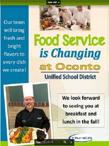 Food Service is Changing in Oconto