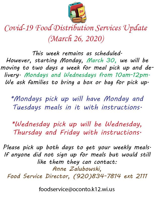 Clarification Memo: Food Distribution Services (March 26, 2020)