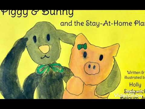 Piggy and Bunny and the Stay-At-Home Plan, written by an MD for her children