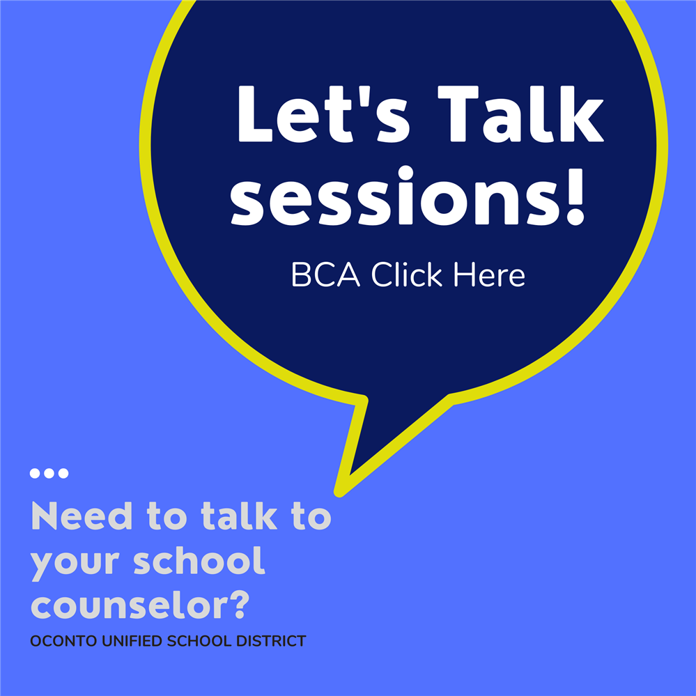 TALK to your school counselor: BCA